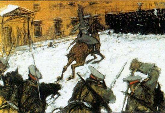 кровавое воскресение 9 явнваря 1905 года, расстрел мирной демонстрации военными у зимнего дворца
