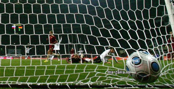 Отборочный матч на чемпионат мира по футболу : Россия - Германия 0:1