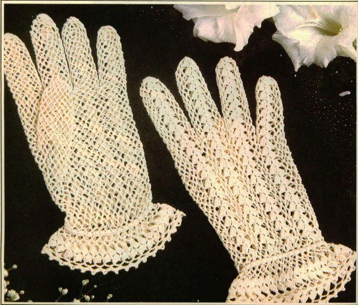 Перчатки как вязанные крючком