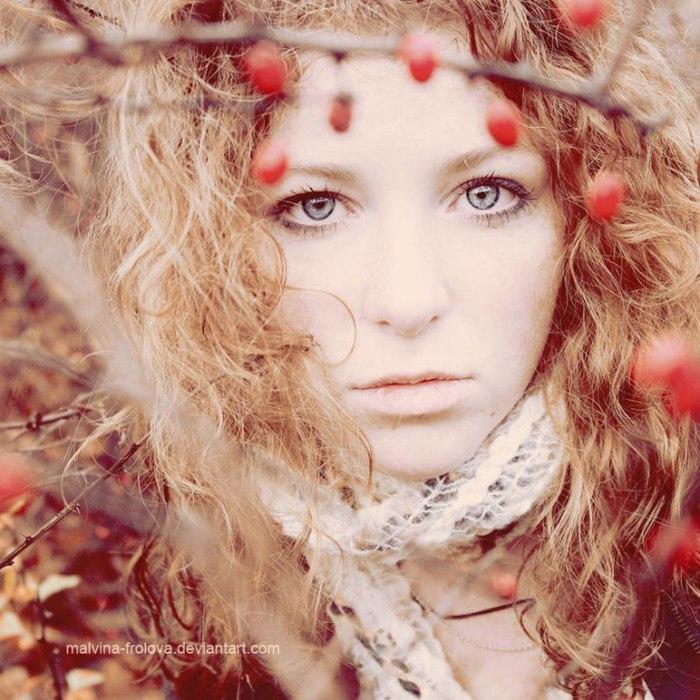 картинки девушка осень: