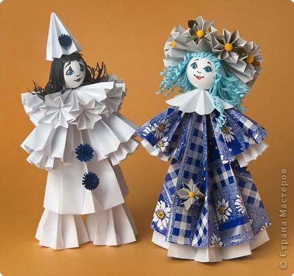 doll-origami balls kusudama.