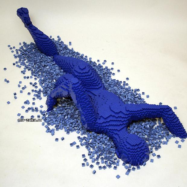 Lego скульптуры Nathan Sawaya