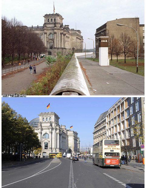 Берлинская стена: тогда и сейчас