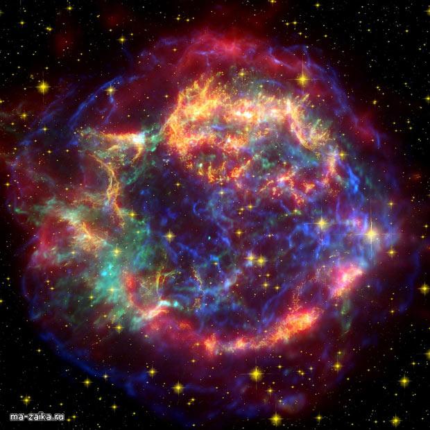 Младенческая звезда, фото НАСА Chandra X-Ray обсерватория