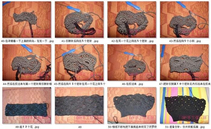 Безрукавка чешуйками. Вязание крючком и спицами