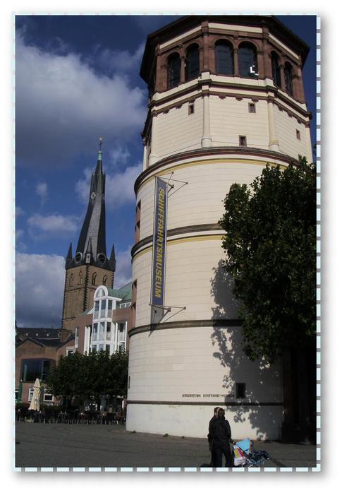 Набережная в Дюссельдорфе.