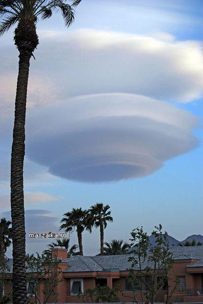Чечевичные НЛО облака и другие облачные образования.
