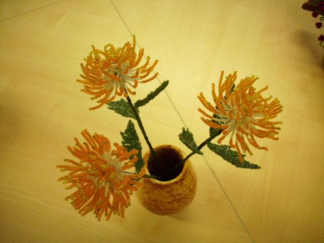 Цветы из бисера 52136