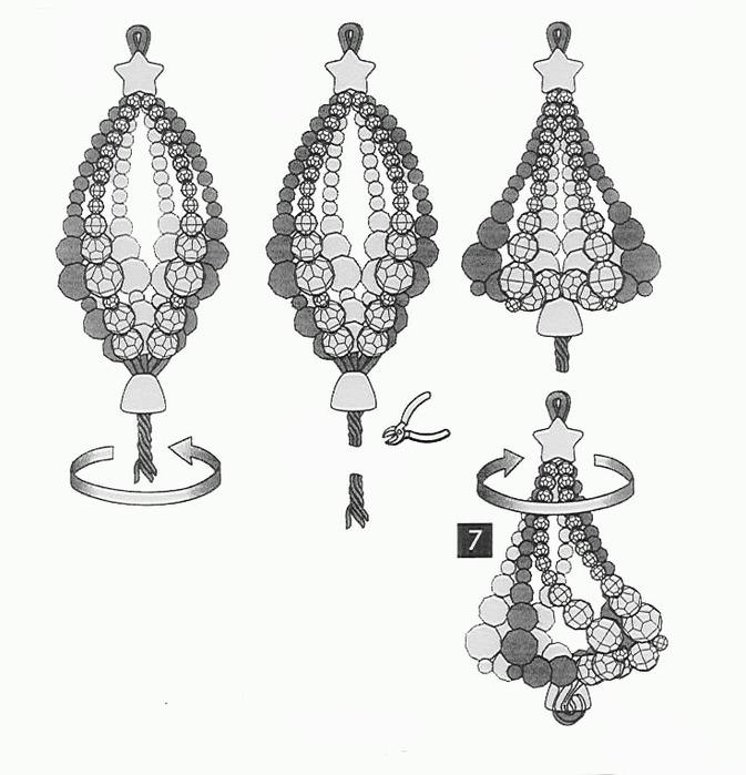 Схемы плетения елочных