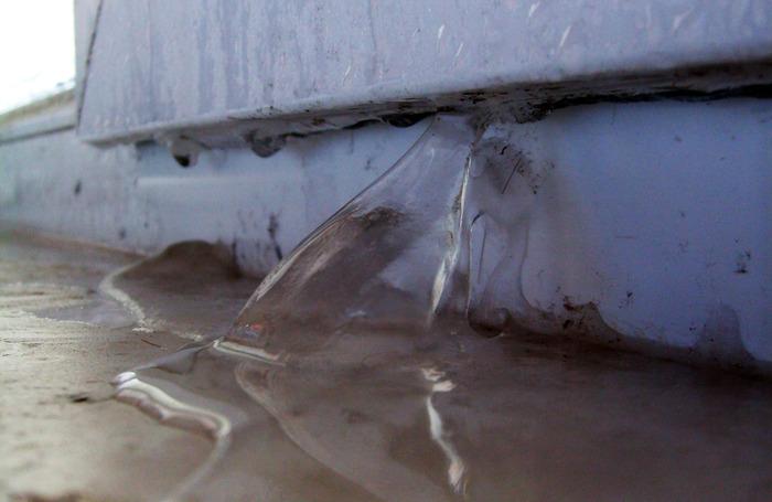 лёд, окно