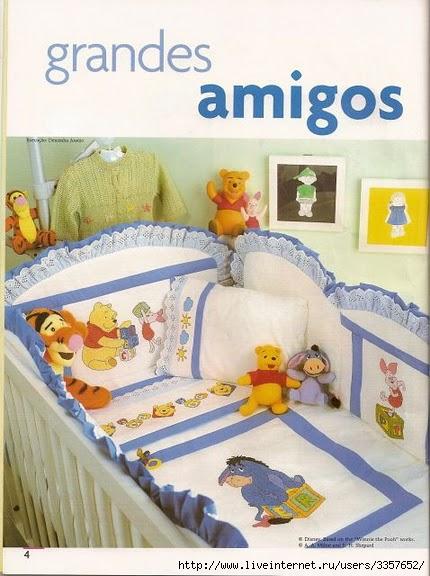 Вышивка детского постельного