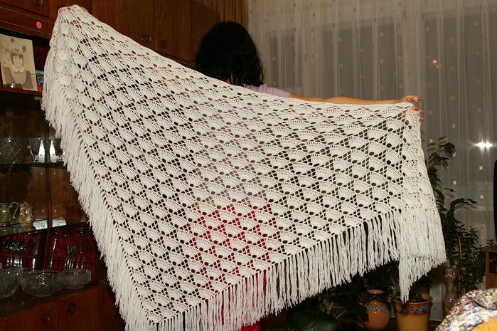 Крючком схемы шали