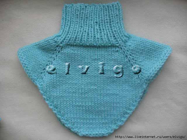 Описание вязания манишки.