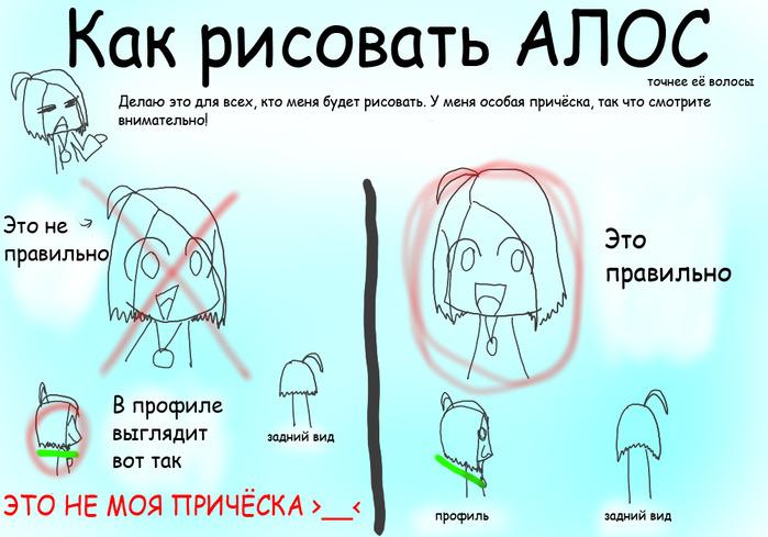 Как рисовать причёску АЛОС