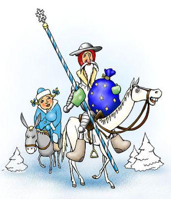дед мороз дон кихот и снегурочка санчо пансо