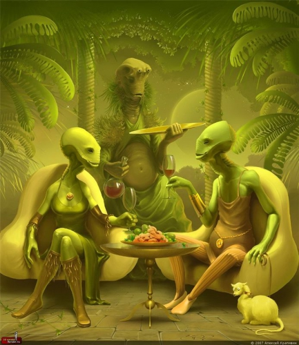 инопланетяне тоже люди... по стакану и в койку