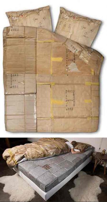 бомжовая постель - постельное белье прикол