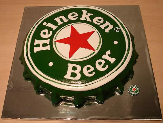 торт пиво хейникен
