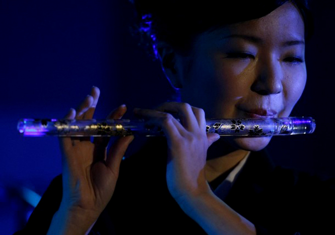 Стеклянная флейта, Токио, 20 января 2010 года.