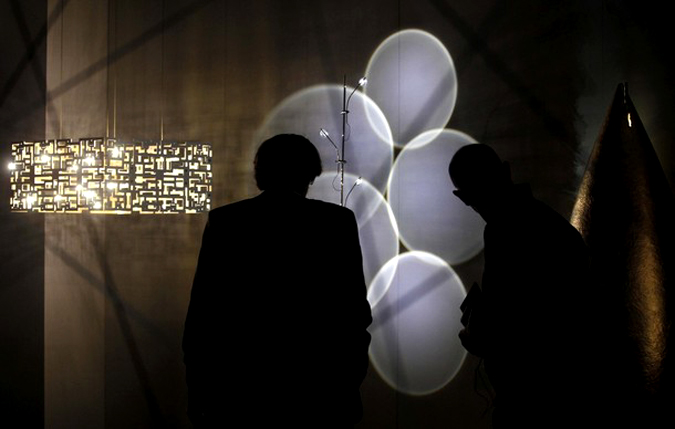 Международная выставка мебели и дизайна интерьера в Кельне, Германия, 20 января 2010 года.