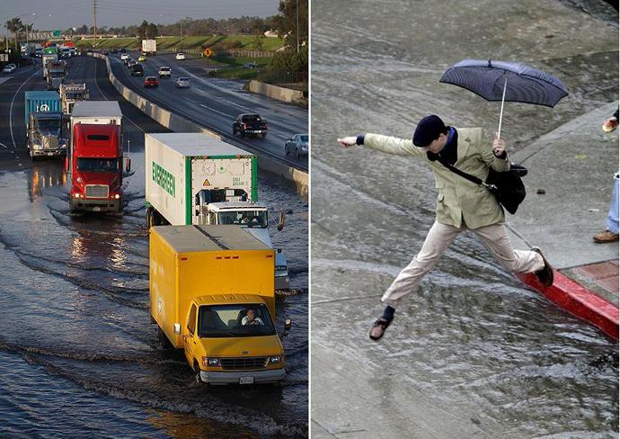 Мощное наводнение обрушилось на Южную Калифорнию