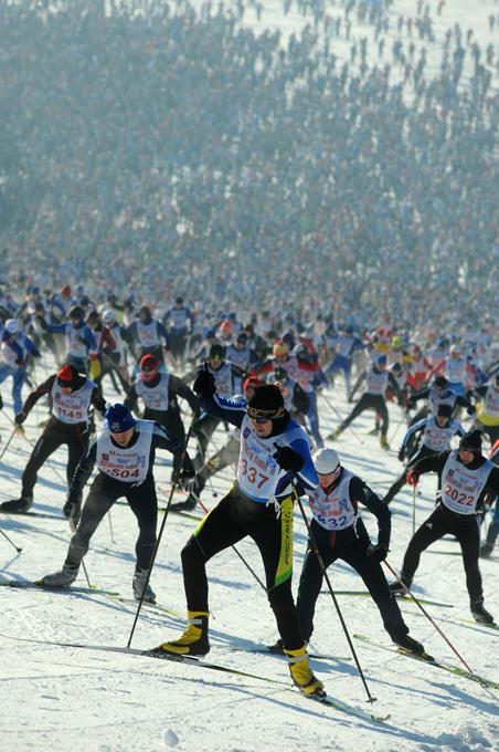 "Московская лыжня-2010, ""Планерная"", 7 февраля 2010 года."