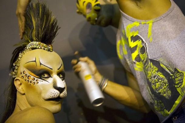 Карнавальные торжества в Лас-Пальмас на испанских Канарских островах Гран-Канария, 12 февраля 2010 года.