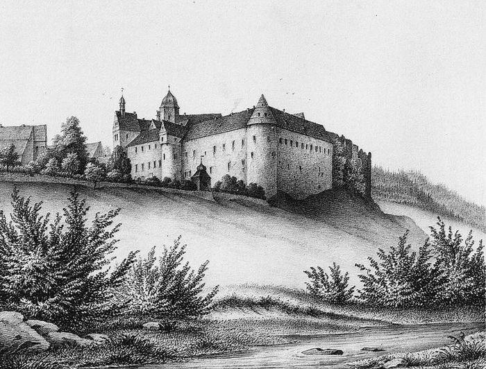 Замок Лауенштайн (нем. Schloss Lauenstein)-Erzgebierge,Sachsen 54791