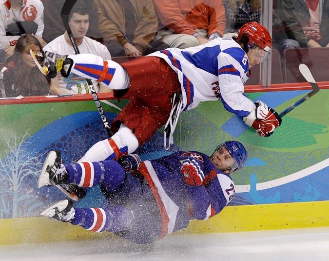 Россия уткнулась в словацкую стену, Ванкувер,18 февраля 2010 года.