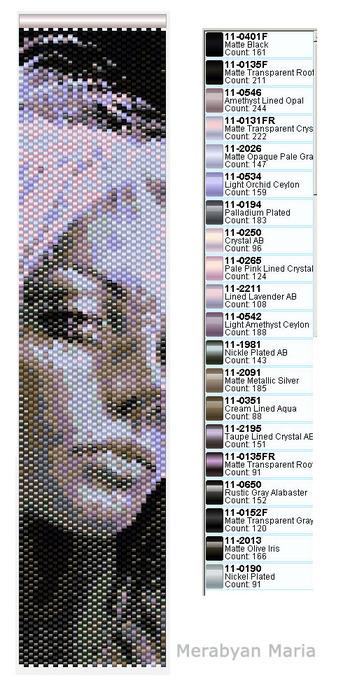 Эльфийка- схема мозаичного