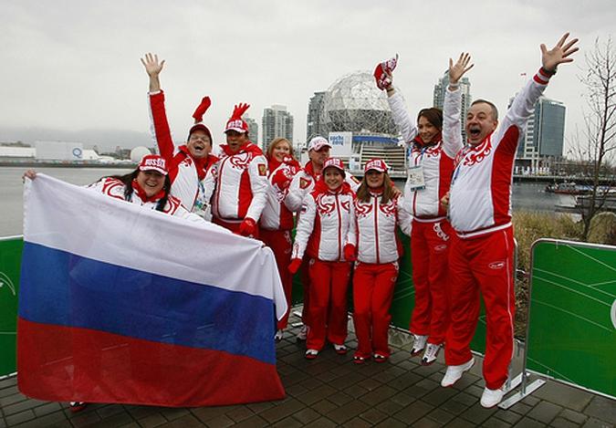 В Олимпийской деревне подняли флаг России, Ванкувер, Канада, 10 февраля 2010 года.