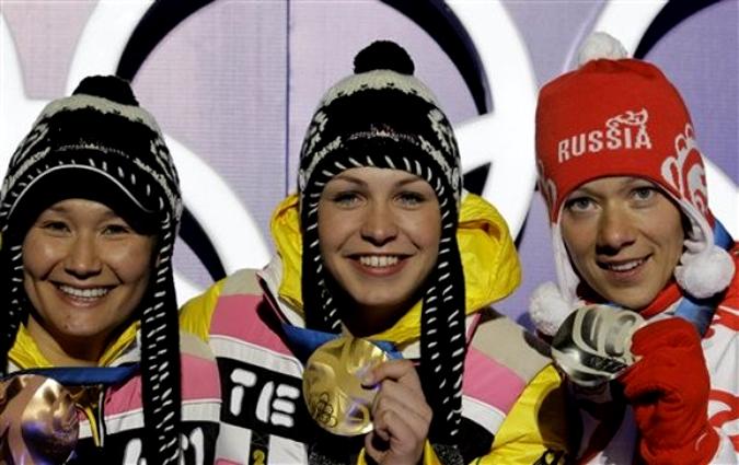Массовый старт по биатлону на 12,5 км среди женщин, Уистлер, Британская Колумбия, 21 февраля 2010 года.