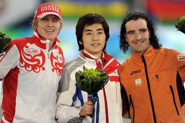 Конькобежец И.Скобрев завоевал серебро на дистанции 10 тыс. м., Ричмонд, Olympic Oval, 23 февраля 2010 года.