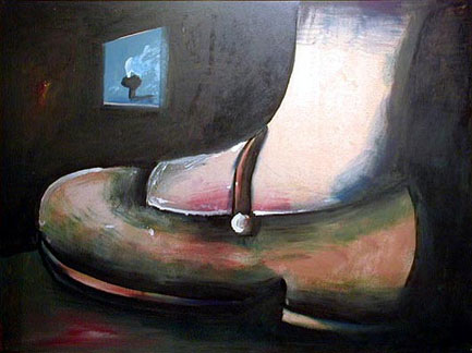 Charles Blackman Prelude to Alice c. 1956; Alice's Foot ©