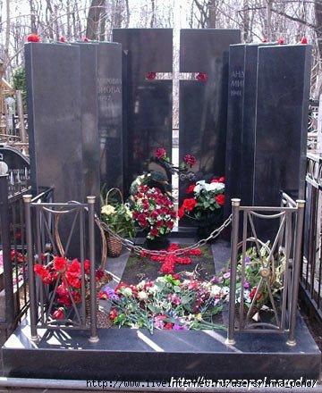 Могила А.Миронова на Ваганьковском кладбище в Москве