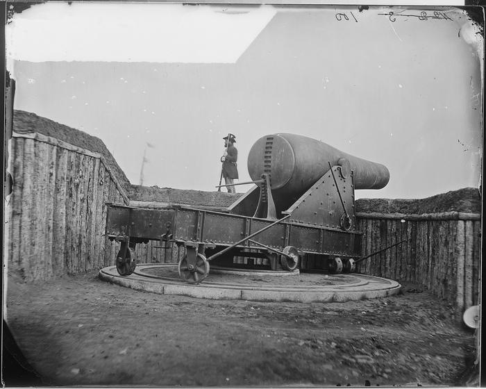 200-lb Gun on Morris Island. Used for Shelling Charleston