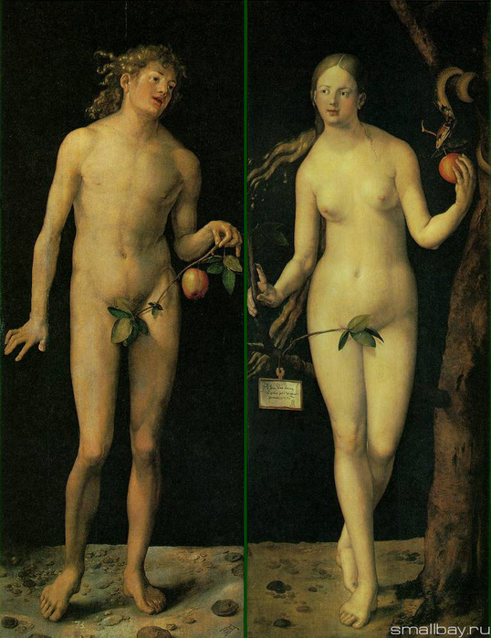 Адам и Ева Прадо, Мадрид 1507 (538x699, 140 Kb)
