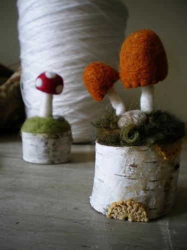 гриб из шерсти