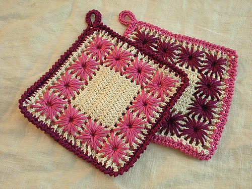 Вязание крючком+вышивка