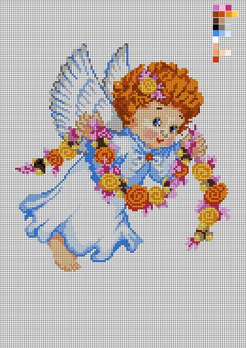 Ангел для вышивки гладью