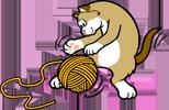 линейка вяжет кот (154x100, 25 Kb)