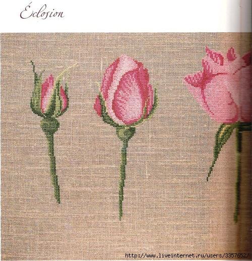 вышивки крестиком розы