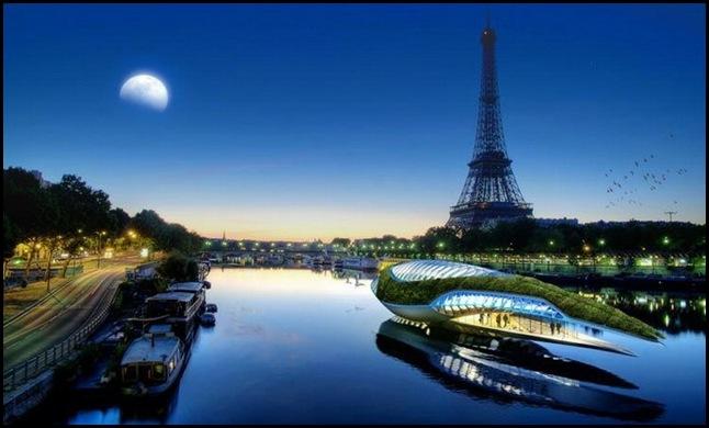 """Преемники парижских """"мух"""" украсят Сенну."""