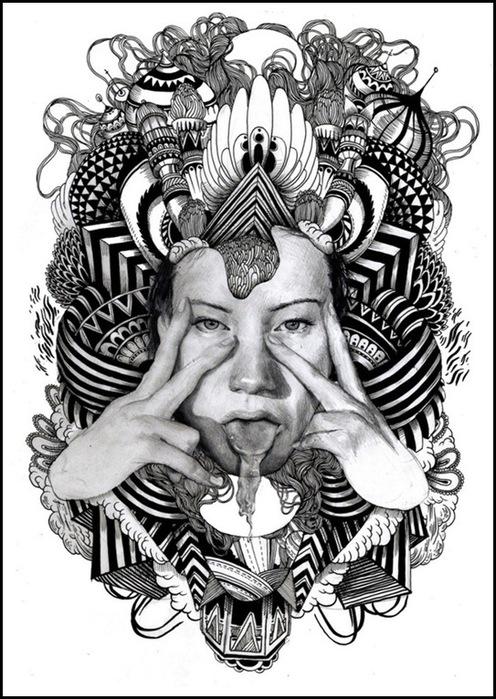Черно-белые коллажи от Iain Macarthur