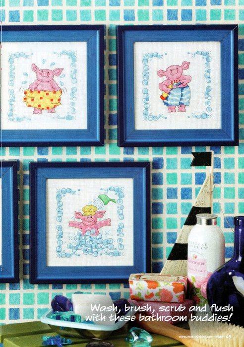 Вышивка для ванной комнаты