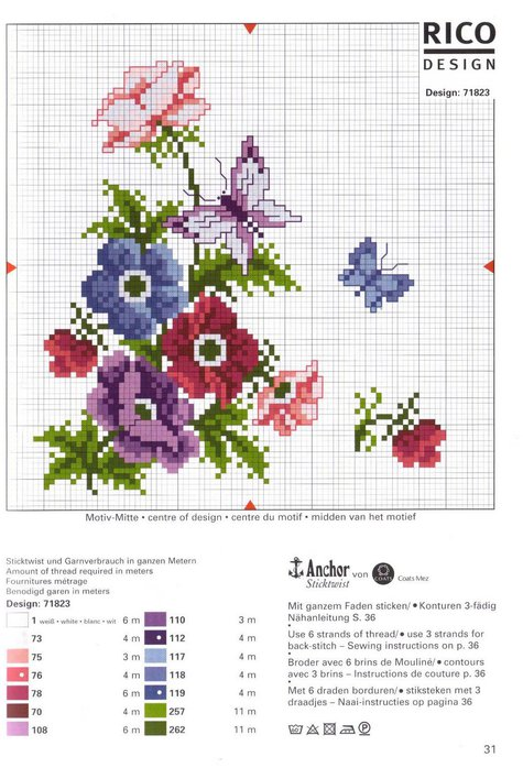rico design: flower embroidery
