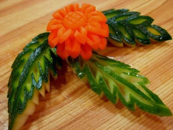 нарезка овощей и фруктов.