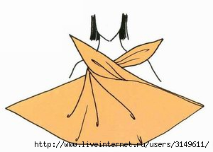 Способы завязывания платков - сарафан и топ