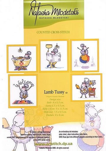 counted cross stitch kits: lambs