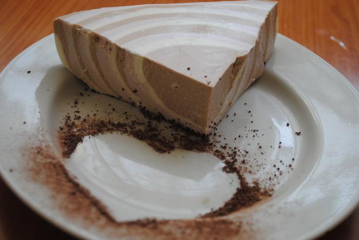Рецепт Творожного десерта Полосатик